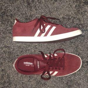 Women's Maroon Adidas tennis shoe